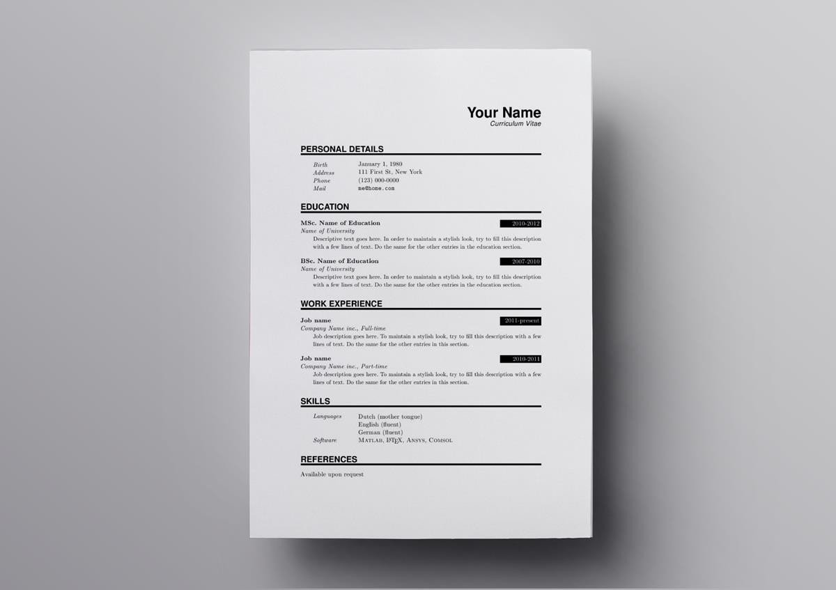 latex resume templates cv software engineer template text only entry level data medical Resume Latex Software Engineer Resume
