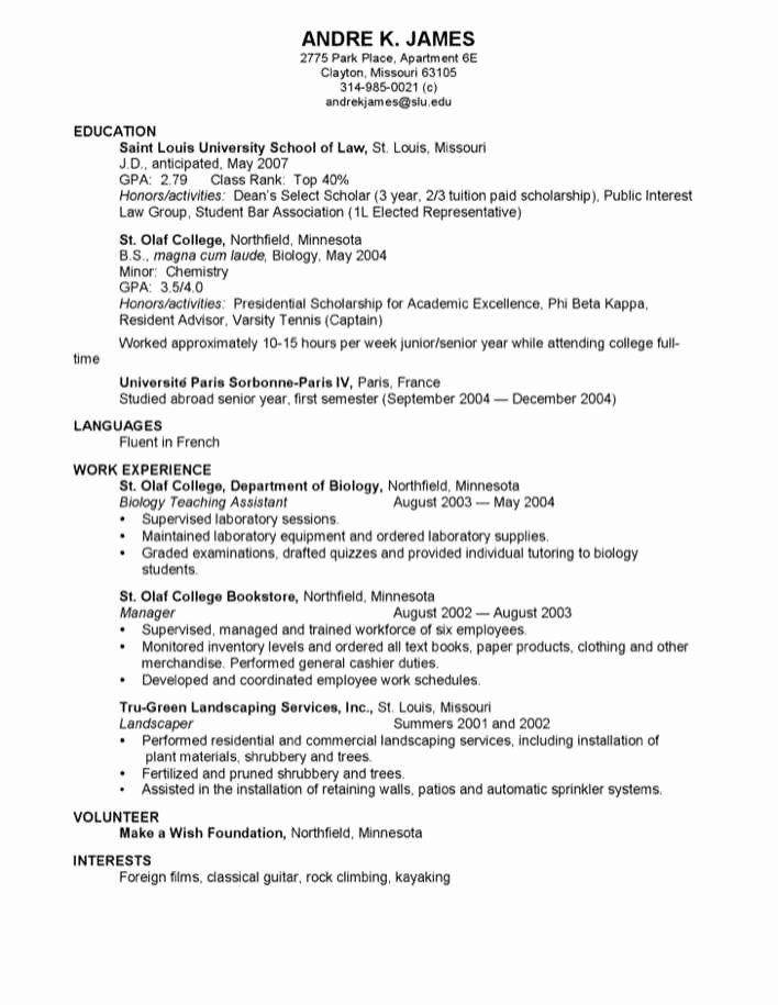 law school resume examples lovely professional for free good job interests construction Resume Interests For Law Resume