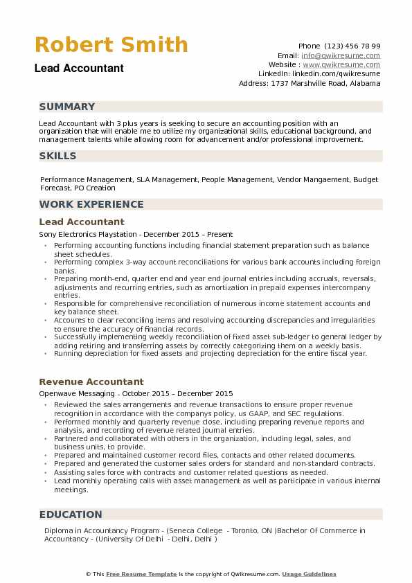 lead accountant resume samples qwikresume professional accounting pdf logistics sample Resume Professional Accounting Resume