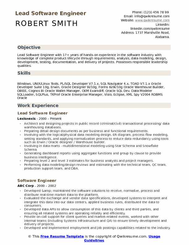 lead software engineer resume samples qwikresume projects for pdf summary forklift Resume Software Projects For Resume