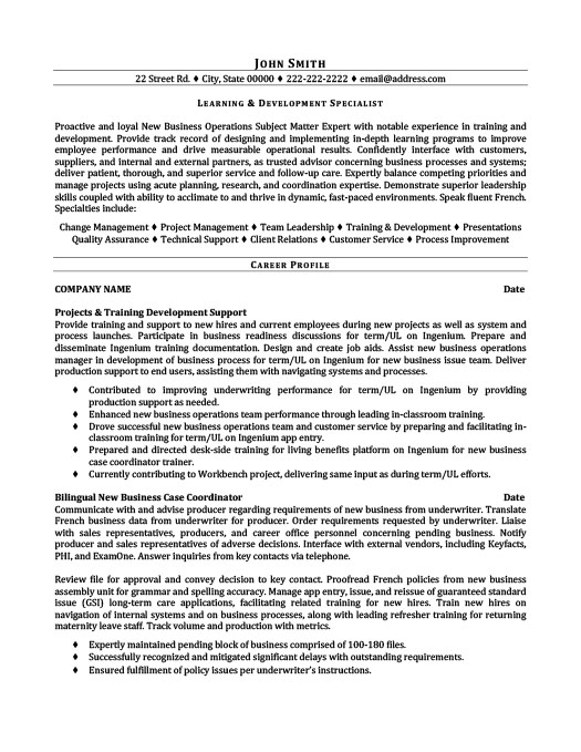 learning and development specialist resume template premium samples example film industry Resume Learning And Development Resume