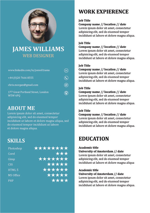 libreoffice cv template cprc resume iphone restore wso sample for fast food assistant Resume Libreoffice Resume Template