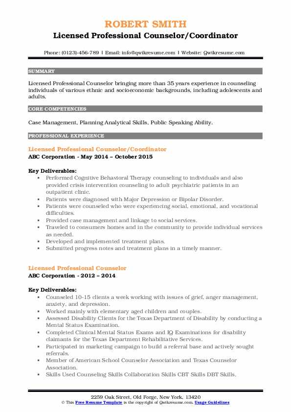 licensed professional counselor resume samples qwikresume pdf objective examples for Resume Licensed Professional Counselor Resume