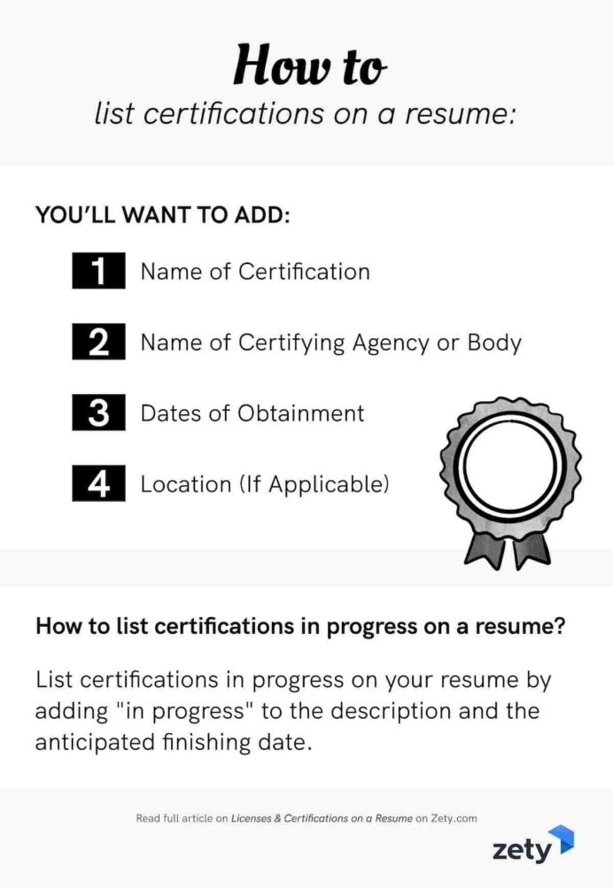 licenses certifications on resume sample easy tips and to for photography internship itsm Resume Resume And Certifications