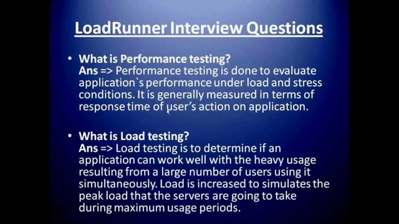 loadrunner interview questions and answers resume preparation sample for food service Resume Resume Interview Questions