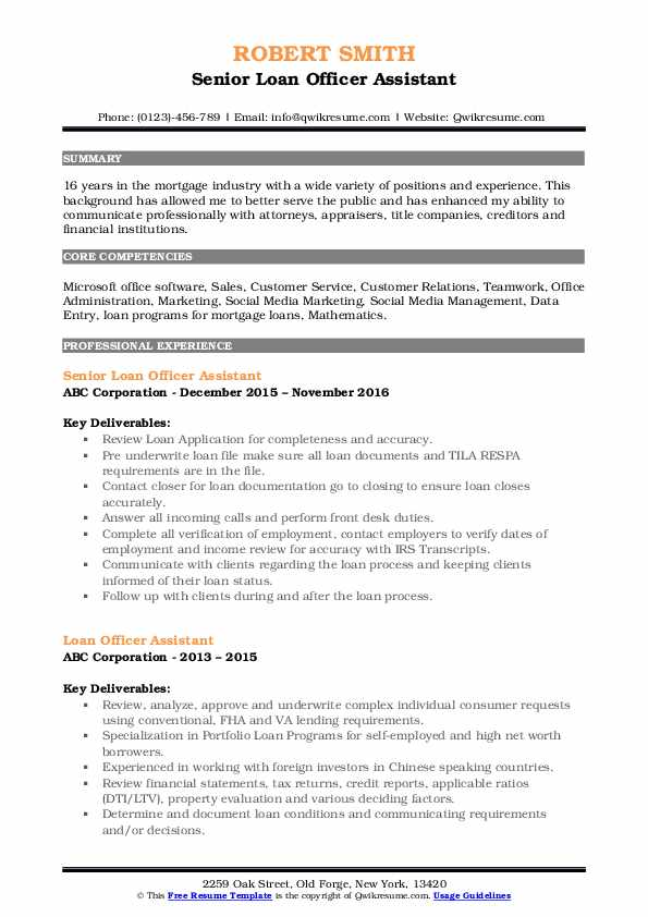loan officer assistant resume samples qwikresume objective examples pdf experience sample Resume Loan Officer Resume Objective Examples