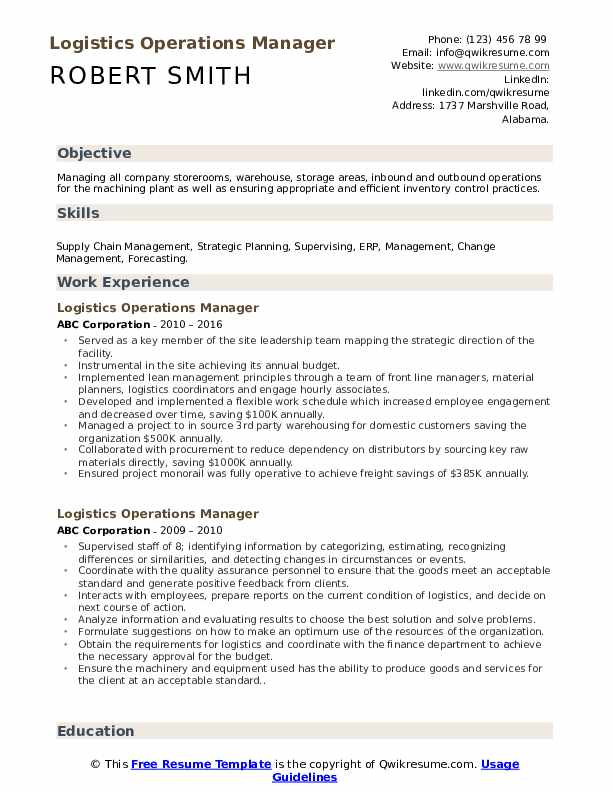 logistics operations manager resume samples qwikresume pdf federal style financial Resume Logistics Operations Resume