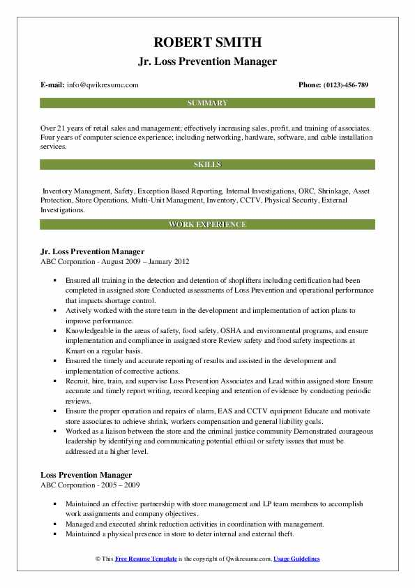 loss prevention manager resume samples qwikresume sample pdf massage cover letter indian Resume Loss Prevention Manager Resume Sample