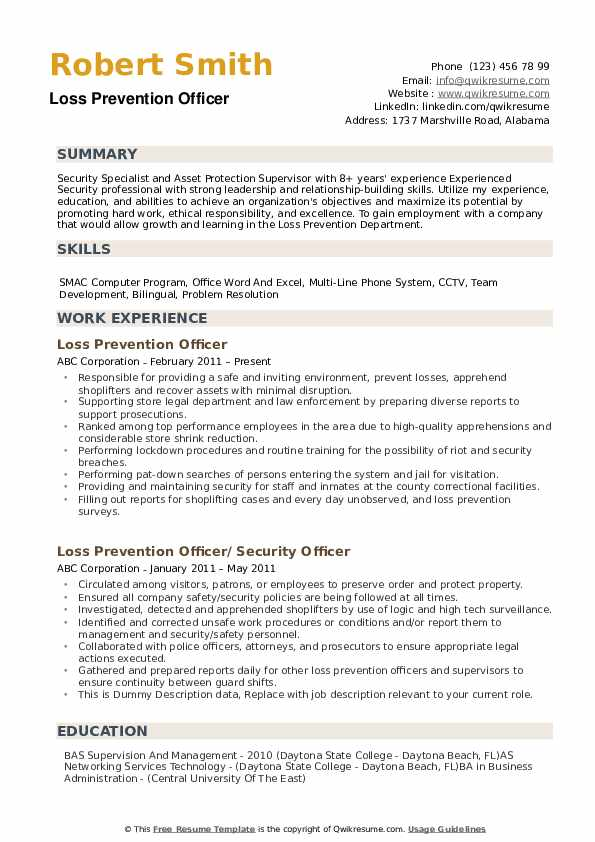 loss prevention officer resume samples qwikresume manager sample pdf pretty layouts le Resume Loss Prevention Manager Resume Sample