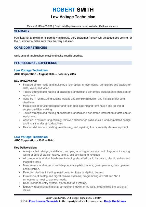 low voltage technician resume samples qwikresume voice and data pdf law enforcement Resume Voice And Data Technician Resume