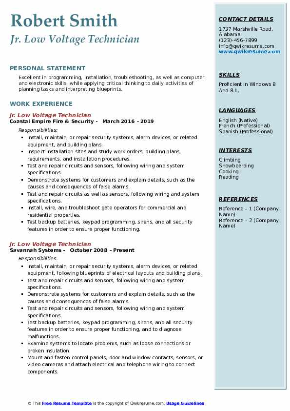 low voltage technician resume samples qwikresume voice and data pdf merrill lynch front Resume Voice And Data Technician Resume