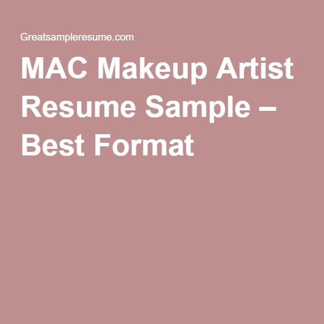 mac makeup artist resume sample best format artists cosmetics templates you can copy and Resume Mac Cosmetics Resume Templates