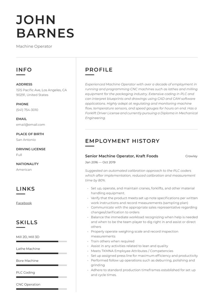 machine operator resume writing guide templates packaging data entry job description for Resume Packaging Machine Operator Resume