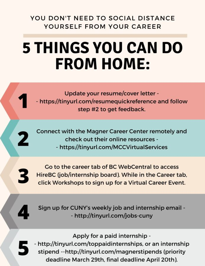 magner career center things to do from home keep up with your https 8hopym4suy brooklyn Resume Brooklyn College Magner Center Resume
