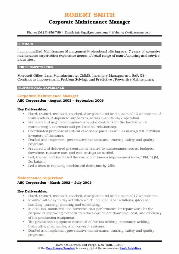 maintenance manager resume samples qwikresume building pdf sap functional consultant Resume Building Maintenance Manager Resume