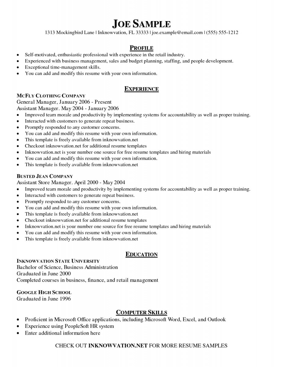 management skills examples for resume simple crew chief college student summer internship Resume Management Skills For Resume
