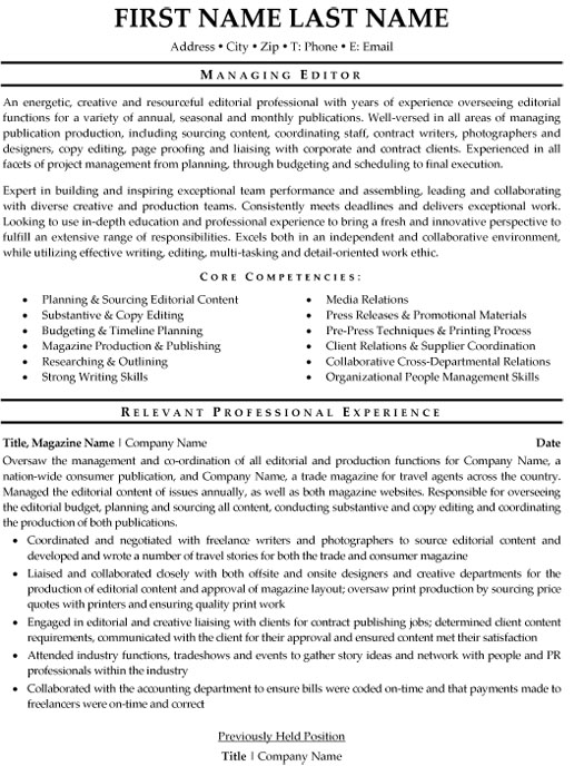 managing editor resume sample template copy skills for taxi driver lil dicky job boards Resume Copy Editor Skills Resume