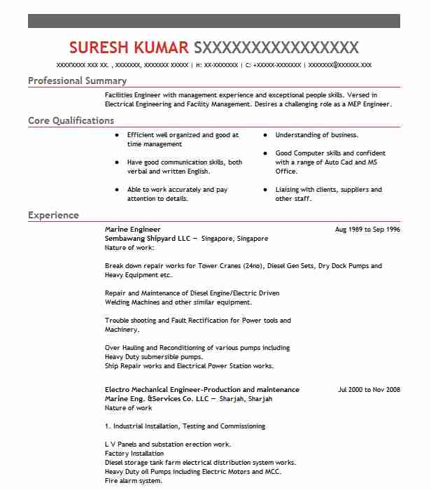 marine engineer resume example engineering resumes livecareer cover letter format for Resume Cover Letter Format For Resume For Marine Engineer