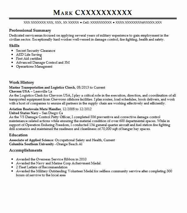 marine transportation specialist resume example shearwater systems llc waldorf for Resume Resume For Marine Transportation Graduate