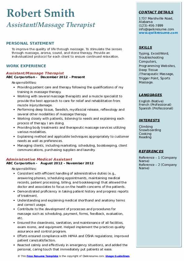massage therapist resume samples qwikresume for beginners pdf army soldier realtor Resume Massage Therapist Resume For Beginners