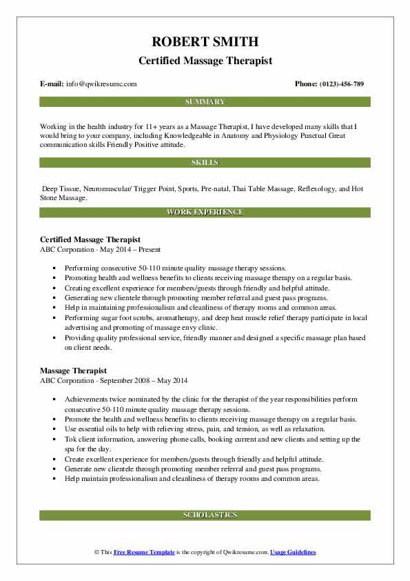 massage therapist resume samples qwikresume for beginners pdf putting together skills Resume Massage Therapist Resume For Beginners