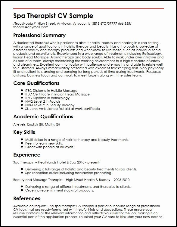 massage therapist resume template elegant spa cv sample jobs radiation for beginners Resume Massage Therapist Resume For Beginners