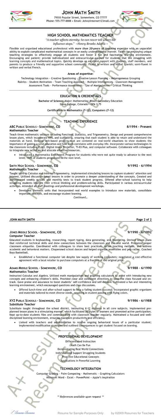 math teacher resume example maths word format sample extea9 work from home objective Resume Maths Teacher Resume Word Format