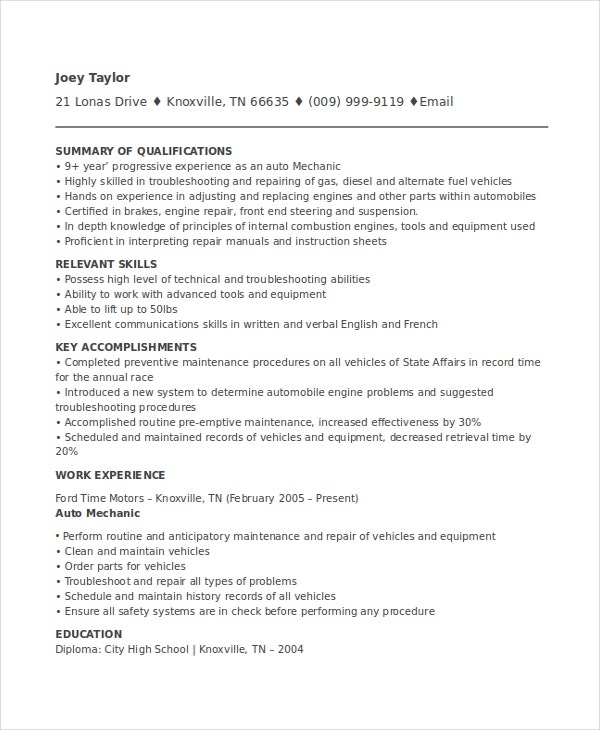 mechanic resume template free word pdf document downloads premium templates aviation Resume Aviation Mechanic Resume Sample