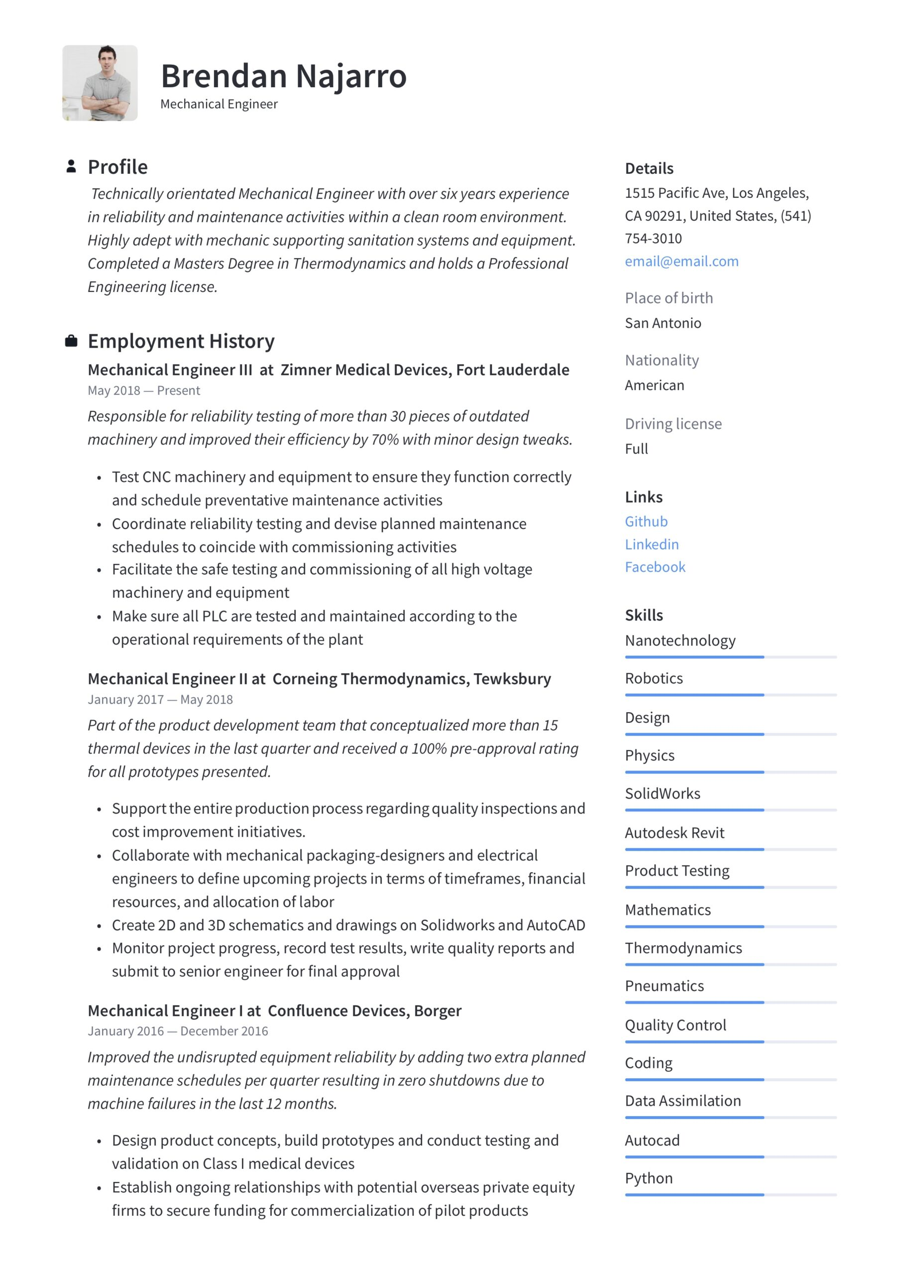 mechanical engineer resume writing guide templates pdf entry level engineering sharepoint Resume Entry Level Mechanical Engineering Resume