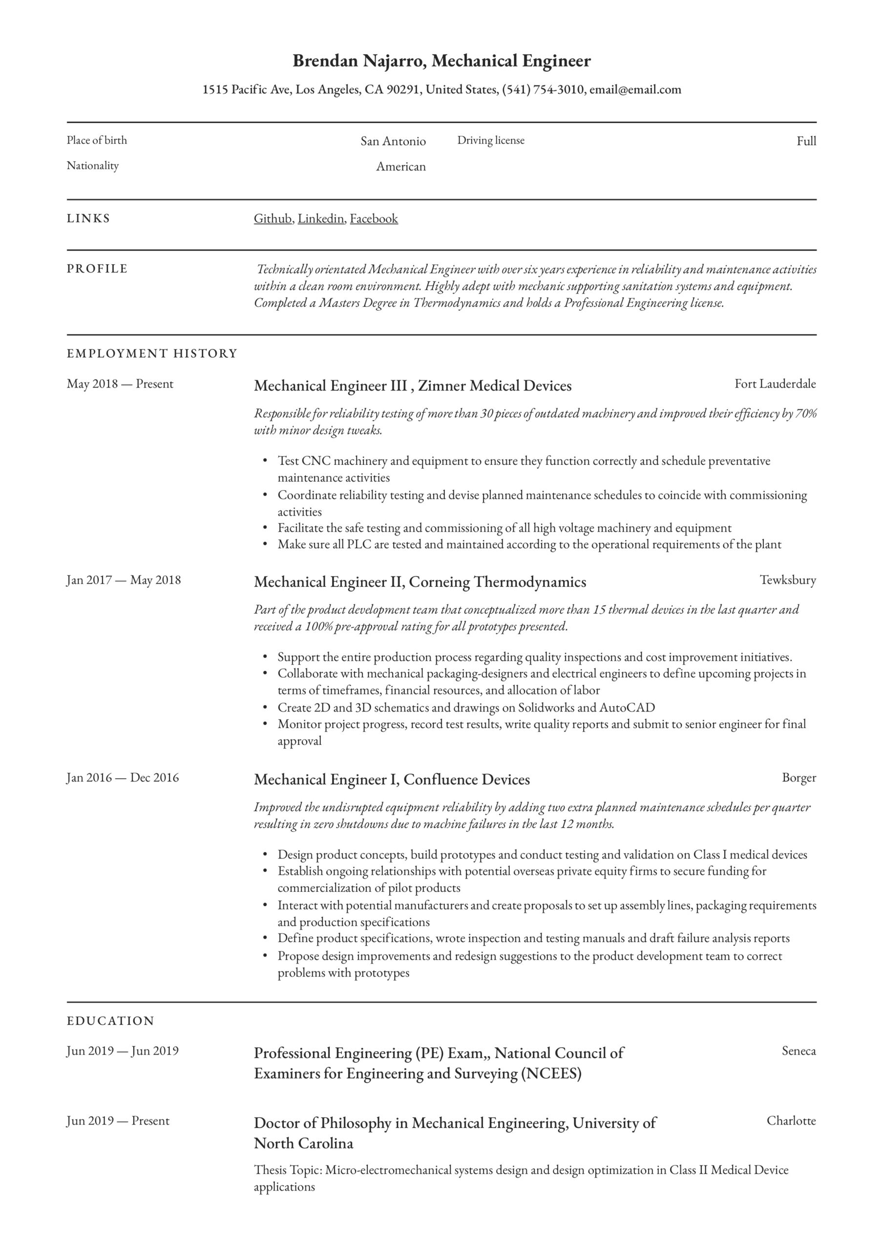 mechanical engineer resume writing guide templates pdf entry level engineering template Resume Entry Level Mechanical Engineering Resume
