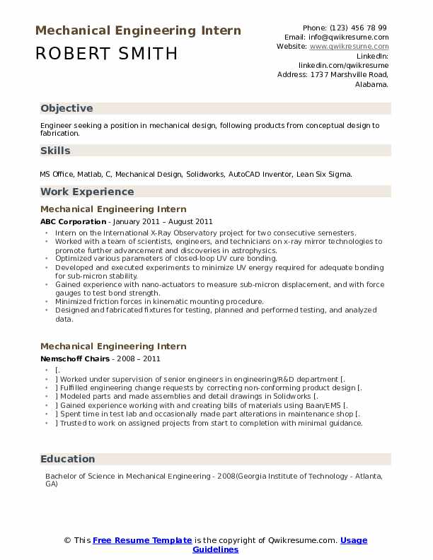 mechanical engineering intern resume samples qwikresume entry level examples pdf bullet Resume Entry Level Mechanical Engineering Resume Examples