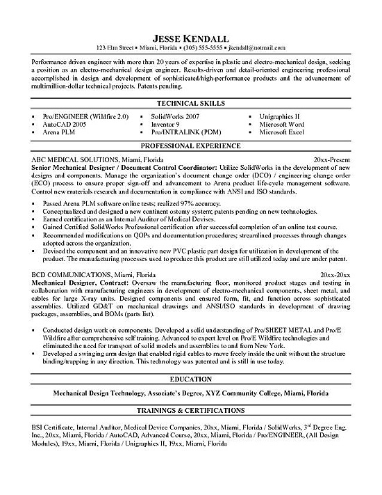 mechanical engineering resume example engineer sample critique leadership keywords for Resume Entry Level Mechanical Engineering Resume Examples