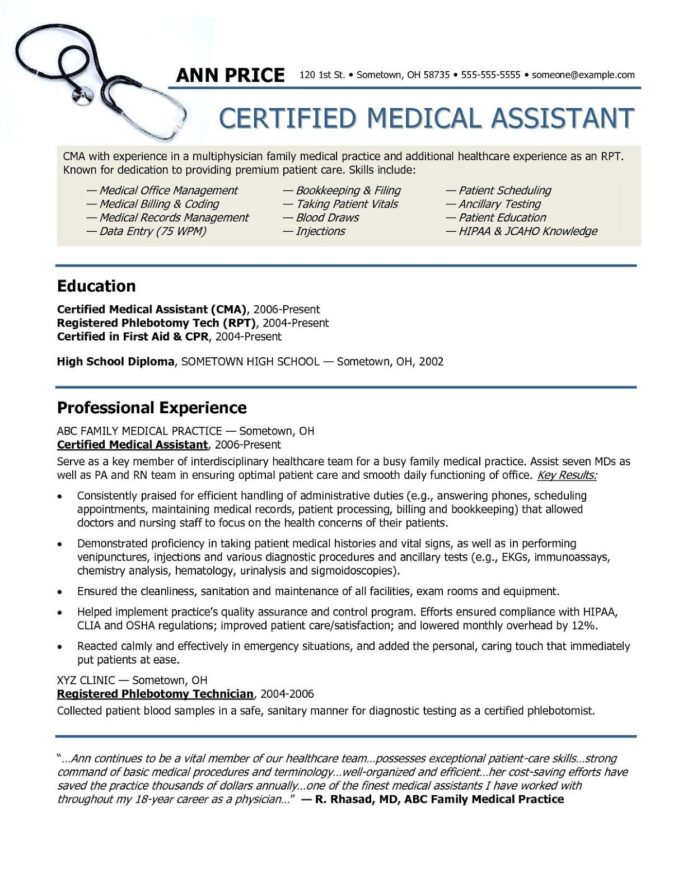 medical assistant resume beispiele medic new ideas skills cosmetology examples beginners Resume Medical Assistant Resume 2019