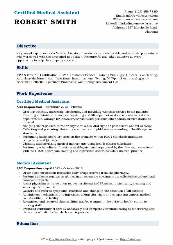 medical assistant resume samples qwikresume pdf siebel configuration skills that are good Resume Medical Assistant Resume 2021