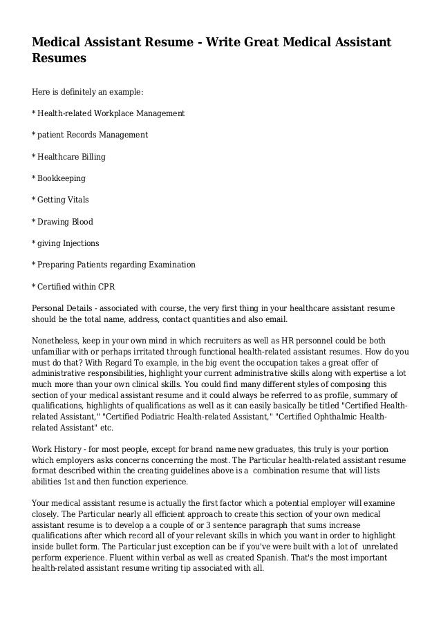 medical assistant resume write great resumes certified ophthalmic sample for college work Resume Certified Ophthalmic Assistant Resume