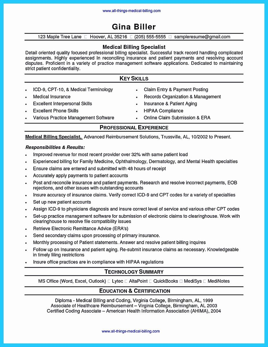 medical biller resume examples awesome exciting billing specialist that brings the job to Resume Billing Specialist Resume Sample