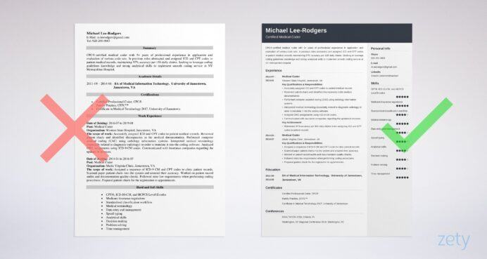 medical coder resume sample guide tips coding examples example expected graduation simple Resume Medical Coding Resume Examples