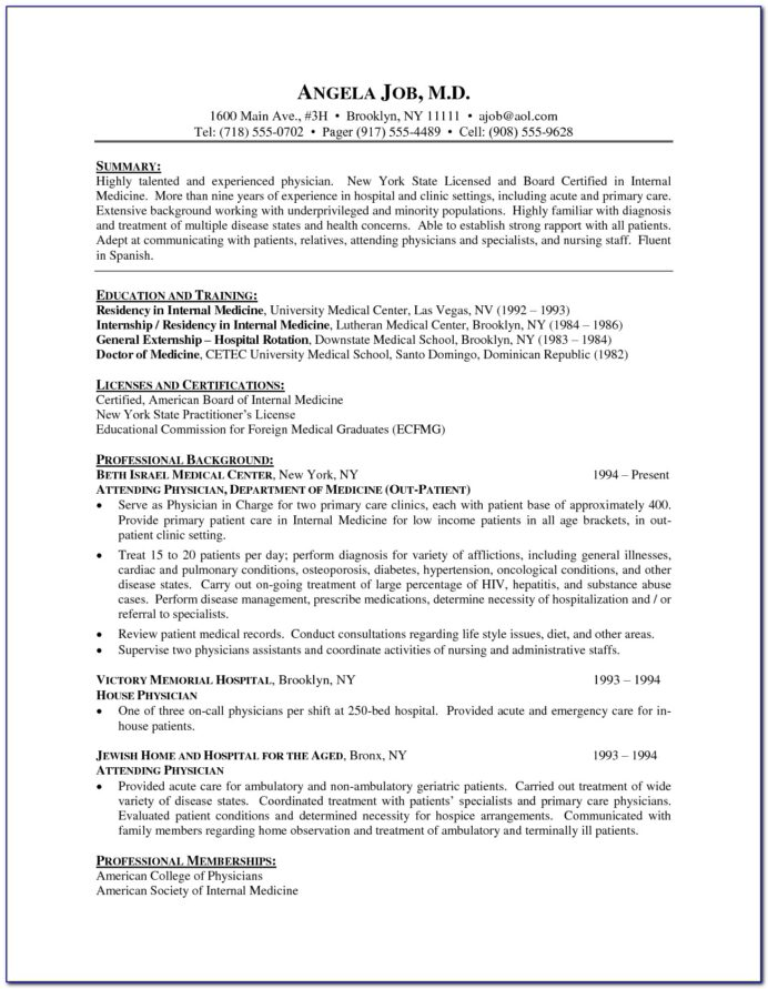 medical doctor resume template vincegray2014 word sample elementary teacher ses ecq Resume Doctor Resume Template Word
