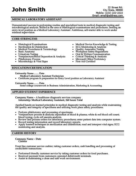 medical laboratory technician resume free templates lab scientist of assistant template Resume Medical Lab Scientist Resume