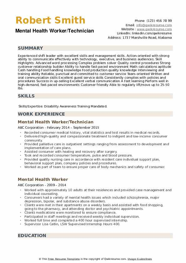 mental health worker resume samples qwikresume support pdf icon images with tables legal Resume Mental Health Support Worker Resume