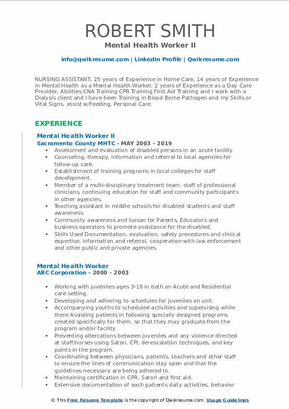 mental health worker resume samples qwikresume support pdf receptionist job objective for Resume Mental Health Support Worker Resume