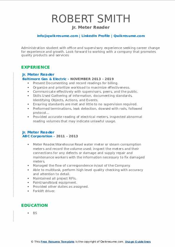 meter reader resume samples qwikresume sample for pdf government relations executive Resume Sample Resume For Meter Reader