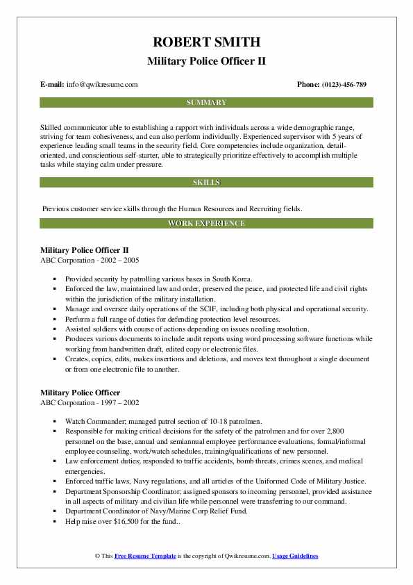 military police officer resume samples qwikresume service on pdf simple job layout Resume Military Service On Resume