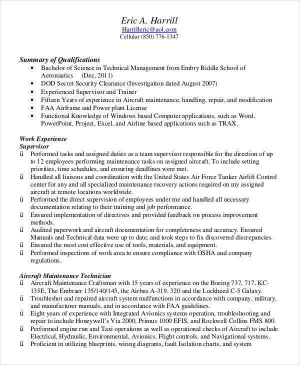 military resume free word pdf documents premium templates air force address for objective Resume Air Force Address For Resume