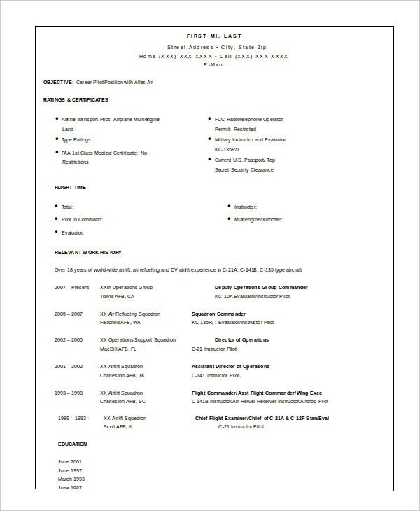 military resume free word pdf documents premium templates for retired pilot job Resume Resume For Retired Person