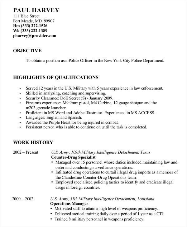 military resume free word pdf documents premium templates for retired police internet Resume Resume For Retired Person