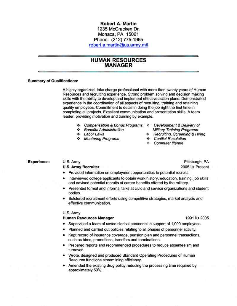 military transition resume writing civilian for the first time service on human resources Resume Military Service On Resume
