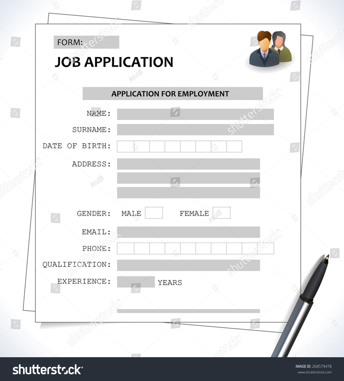 minimalist cv resume template job application stock vector royalty free image of for form Resume Image Of Resume For Job Application