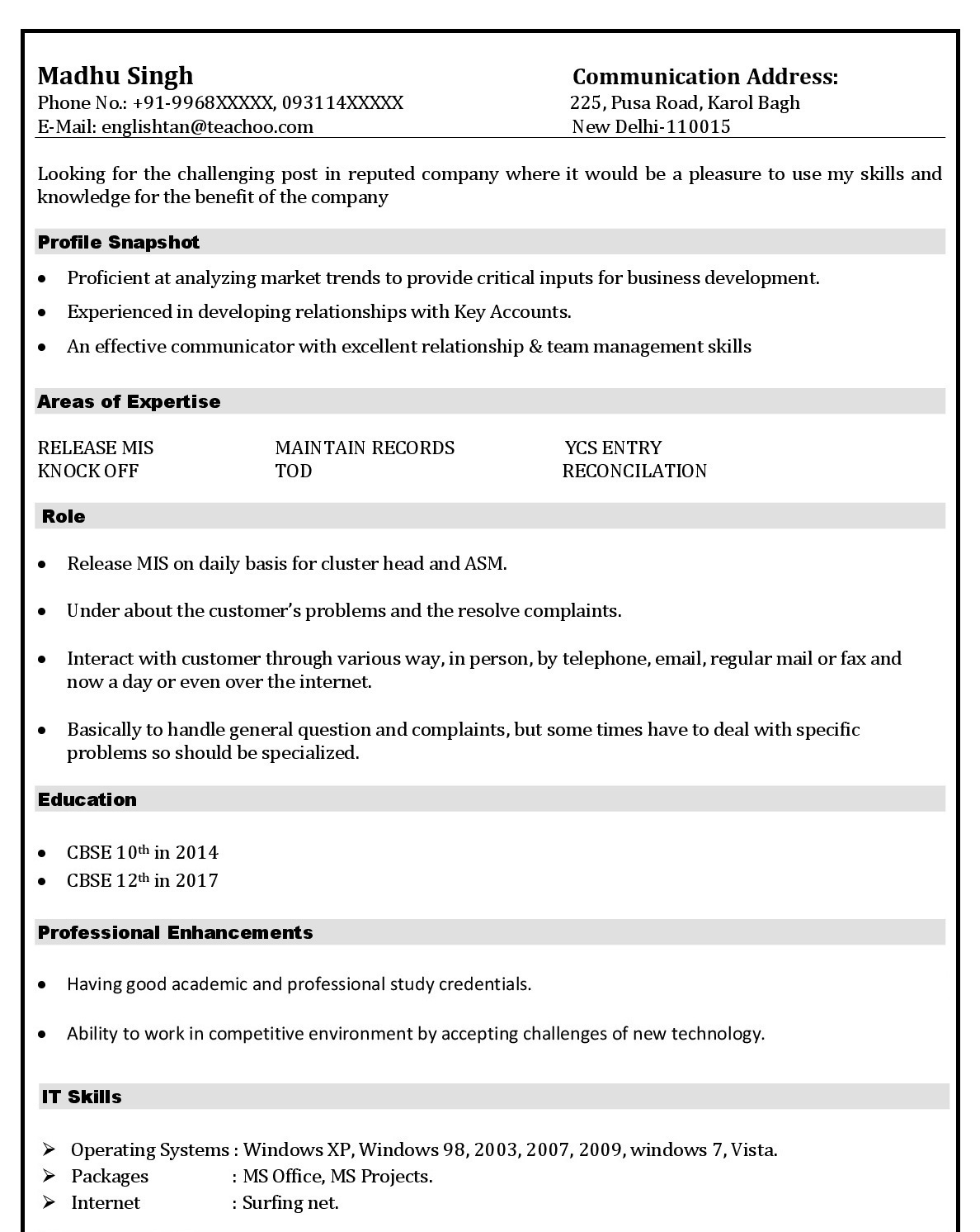 mistakes people make in resume making tally experience format and references for mca Resume Tally Experience Resume Format