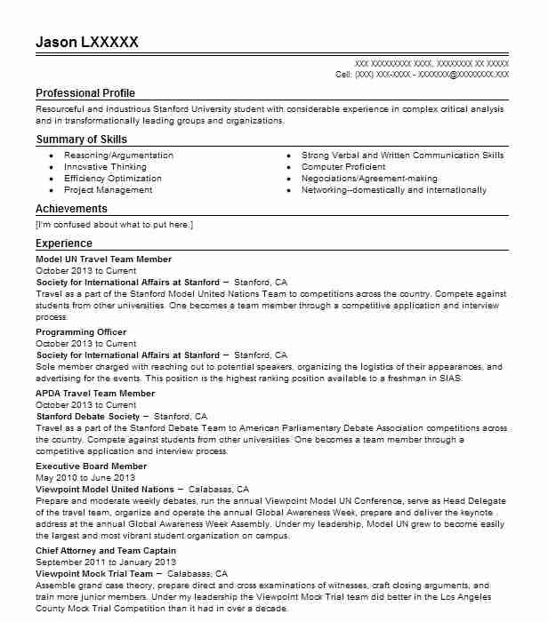 model un travel team member resume example society for cv template design examples Resume United Nations Resume Example